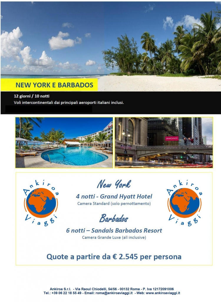 Speciale New York e Barbados