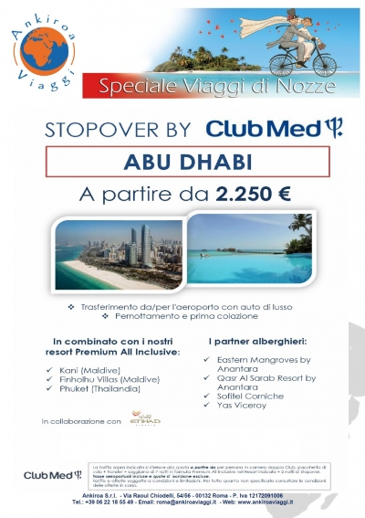 Stop Over Abu Dhabi Club Med
